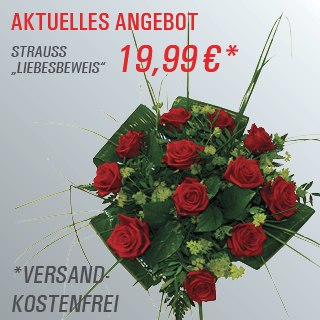 Unser aktuelles Angebot, Strauss Liebesbeweiss für 19,99 Euro, versandkostenfrei