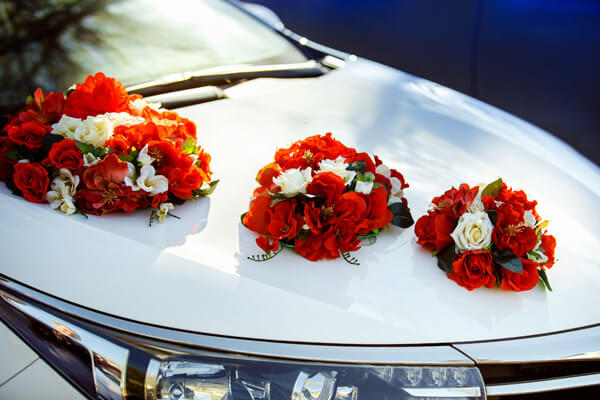 Blumenschmuck Auto Blumenversand Edelweiß