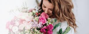 Blumen abholen