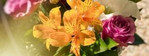 exotische Blumensträuße