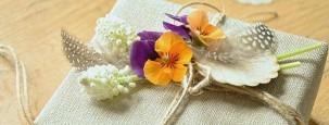 florale Geschnekverpackung