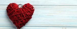 Herz zum Valentinstag