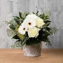 Blumenstrauß creme weiß