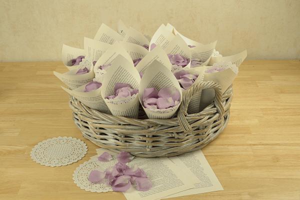 Streublumen für die Hochzeit - Rosenblüten