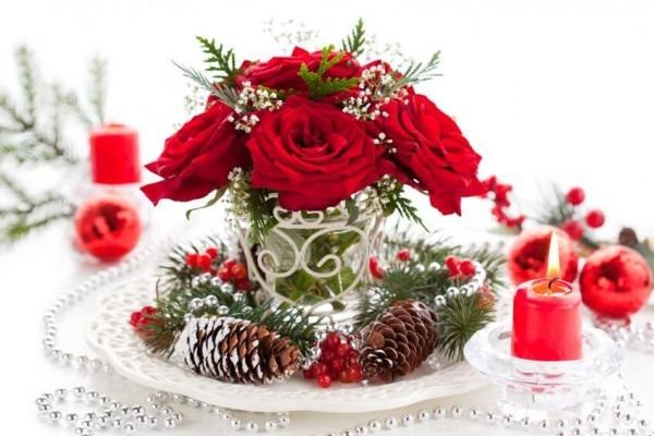 Blumenstrauß zum Advent