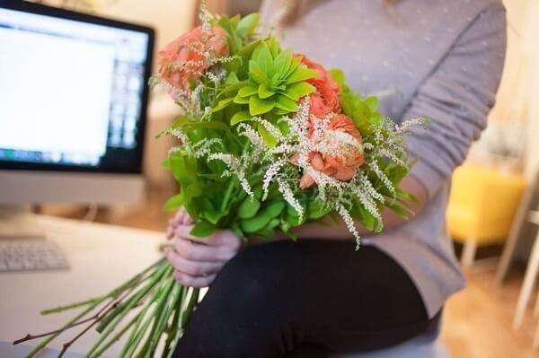 Blumen für Geschäftspartner