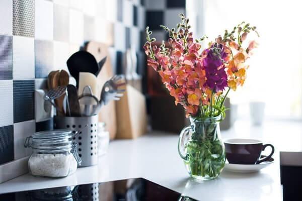 Blumen für die Küche