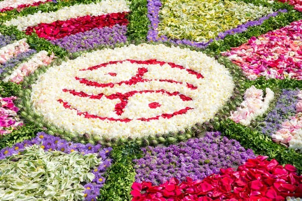 Blumen zu Fronleichnam