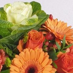 Blumenstrauß mit Kohl Herbst