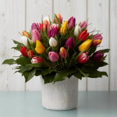 Blumenstrauß Tulpen bunt gemischt
